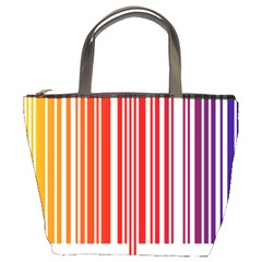Colorful Gradient Barcode Bucket Bag