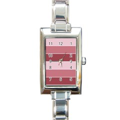 Striped Shapes Wide Stripes Horizontal Geometric Rectangle Italian Charm Watch