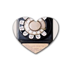Vintage Payphone Rubber Coaster (heart)