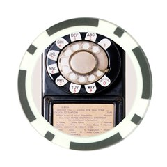 Vintage Payphone Poker Chip Card Guard (10 Pack) by Sudhe
