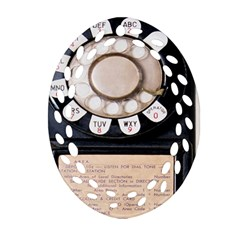 Vintage Payphone Oval Filigree Ornament (two Sides)