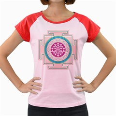 Mandala Design Arts Indian Women s Cap Sleeve T-shirt by Sudhe