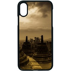Borobudur Temple  Indonesia Iphone X Seamless Case (black)