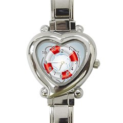 Spare Tire Icon Vector Heart Italian Charm Watch