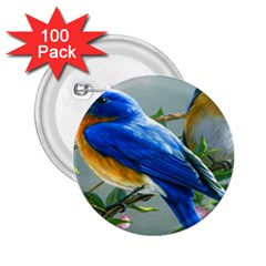 Loving Birds 2 25  Buttons (100 Pack)
