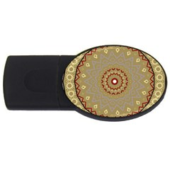 Mandala Art Ornament Pattern Usb Flash Drive Oval (4 Gb)