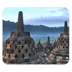 Borobudur Temple  Morning Serenade Double Sided Flano Blanket (small)