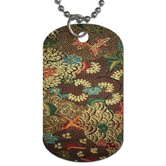 Colorful The Beautiful Of Art Indonesian Batik Pattern Dog Tag (one Side)