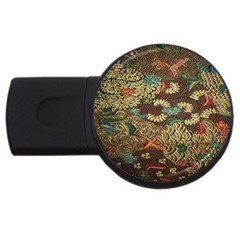 Colorful The Beautiful Of Art Indonesian Batik Pattern Usb Flash Drive Round (4 Gb)