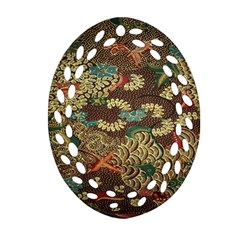 Colorful The Beautiful Of Art Indonesian Batik Pattern Ornament (oval Filigree)