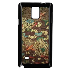 Colorful The Beautiful Of Art Indonesian Batik Pattern Samsung Galaxy Note 4 Case (black)