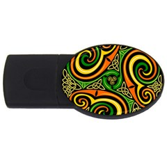 Celtic Celts Circle Color Colors Usb Flash Drive Oval (4 Gb)