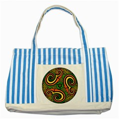 Celtic Celts Circle Color Colors Striped Blue Tote Bag