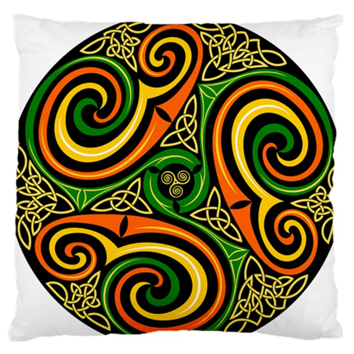 Celtic Celts Circle Color Colors Large Flano Cushion Case (Two Sides)
