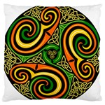 Celtic Celts Circle Color Colors Large Flano Cushion Case (Two Sides) Back