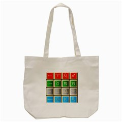 Set Of The Twelve Signs Of The Zodiac Astrology Birth Symbols Tote Bag (cream)