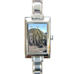 Mount Batok Bromo Indonesia Rectangle Italian Charm Watch
