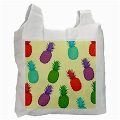 Colorful Pineapples Wallpaper Background Recycle Bag (one Side)