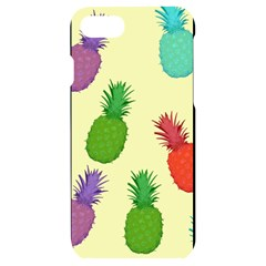 Colorful Pineapples Wallpaper Background Iphone 7/8 Black Frosting Case by Sudhe