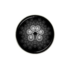Fractal Filigree Lace Vintage Hat Clip Ball Marker