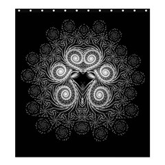 Fractal Filigree Lace Vintage Shower Curtain 66  X 72  (large)