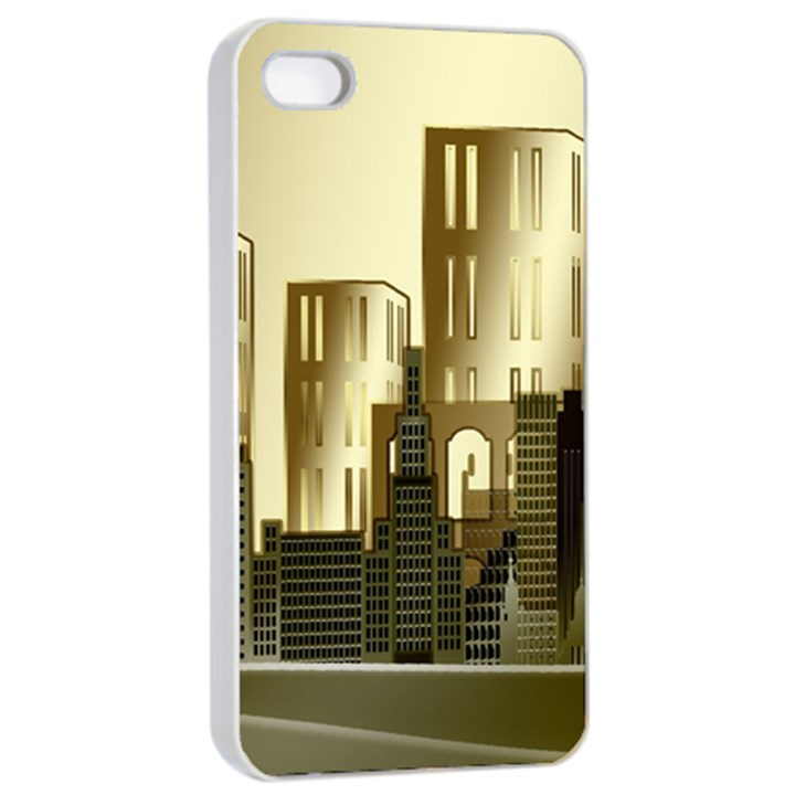 Architecture City House iPhone 4/4s Seamless Case (White)
