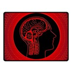 Artificial Intelligence Brain Think Fleece Blanket (Small) 50 x40  Blanket Front