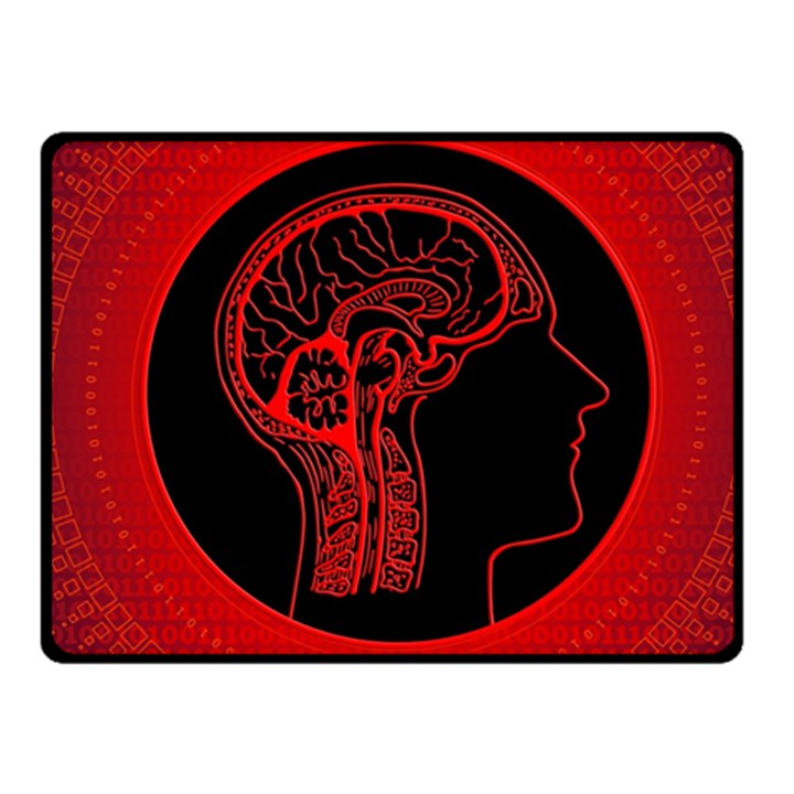 Artificial Intelligence Brain Think Fleece Blanket (Small)