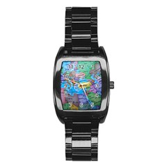 Globe World Map Maps Europe Stainless Steel Barrel Watch