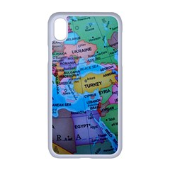Globe World Map Maps Europe Iphone Xr Seamless Case (white) by Sudhe