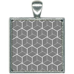 Cube Pattern Cube Seamless Repeat Square Necklace