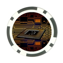 Processor Cpu Board Circuits Poker Chip Card Guard (10 Pack) by Sudhe