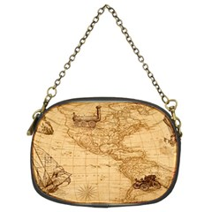 Map Discovery America Ship Train Chain Purse (two Sides)