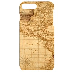 Map Discovery America Ship Train Iphone 7/8 Plus Black Frosting Case by Sudhe