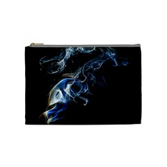 Smoke Flame Dynamic Wave Motion Cosmetic Bag (medium)