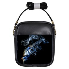 Smoke Flame Dynamic Wave Motion Girls Sling Bag