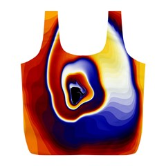 Fractal Art Paint Pattern Texture Full Print Recycle Bag (l) by Sudhe