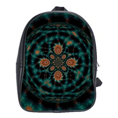 Abstract Digital Geometric Pattern School Bag (large)