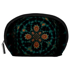 Abstract Digital Geometric Pattern Accessory Pouch (large)