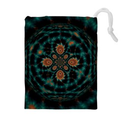 Abstract Digital Geometric Pattern Drawstring Pouch (xl)