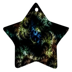 Abstract Digital Art Fractal Star Ornament (two Sides)