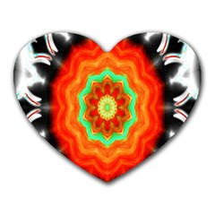 Abstract Kaleidoscope Colored Heart Mousepads