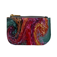 Color Rainbow Abstract Flow Merge Mini Coin Purse by Sudhe