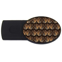 Lion Face Usb Flash Drive Oval (2 Gb)