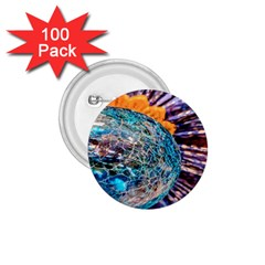 Multi Colored Glass Sphere Glass 1 75  Buttons (100 Pack)