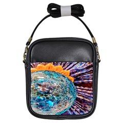 Multi Colored Glass Sphere Glass Girls Sling Bag