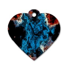 Abstract Fractal Magical Dog Tag Heart (one Side)