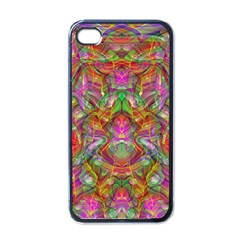 Background Psychedelic Colorful Iphone 4 Case (black)