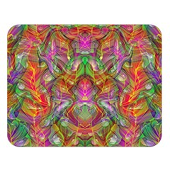 Background Psychedelic Colorful Double Sided Flano Blanket (large)