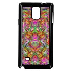Background Psychedelic Colorful Samsung Galaxy Note 4 Case (black)
